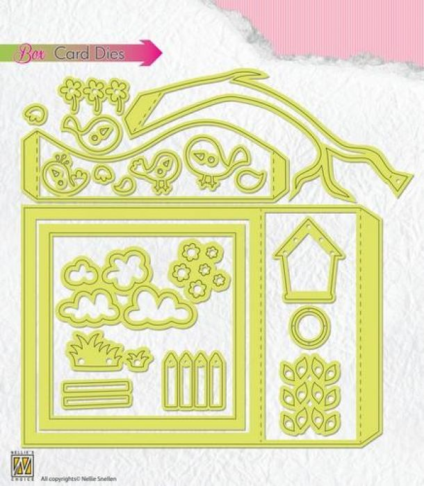 Nellies Choice Box card die BCD001  105x150mm
