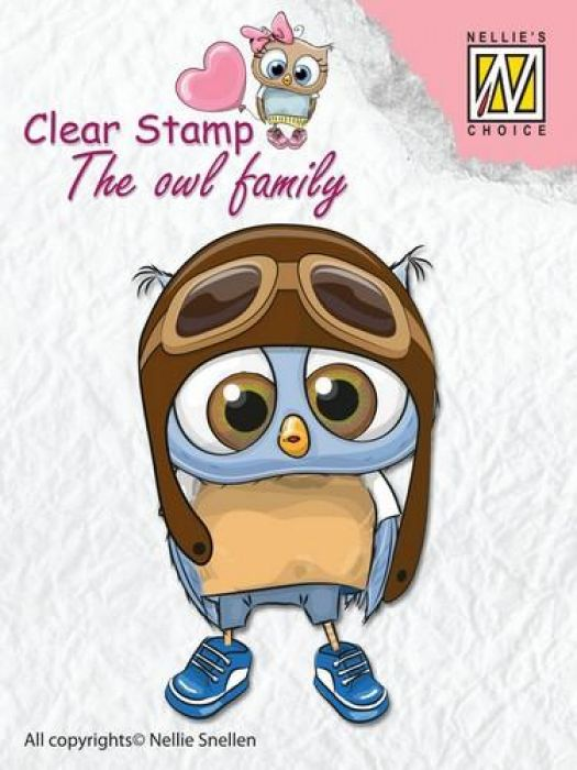 Nellies Choice Clearstempel - The owl Family piloot CSO009 65m40mm