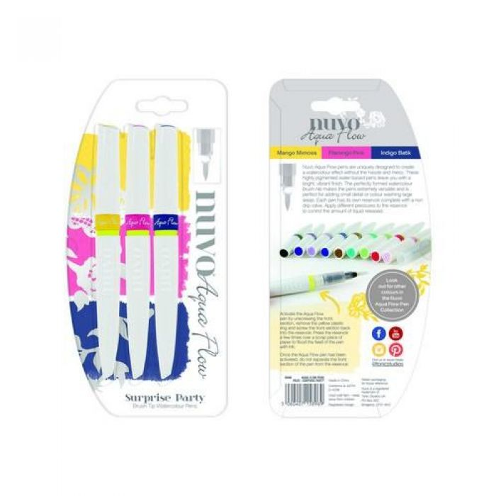 Nuvo Aqua flow pens - suprise party 896N