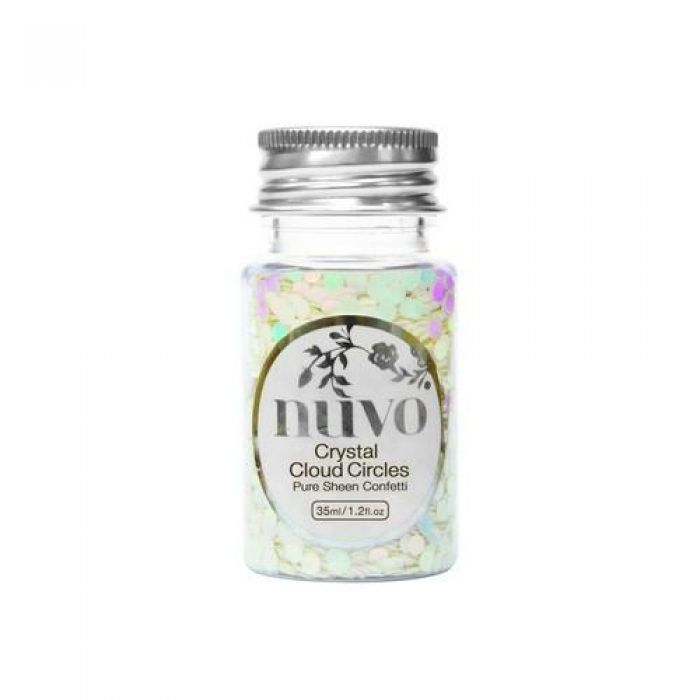 Nuvo Confetti - crystal cloud circles 35ml bottle 1064N
