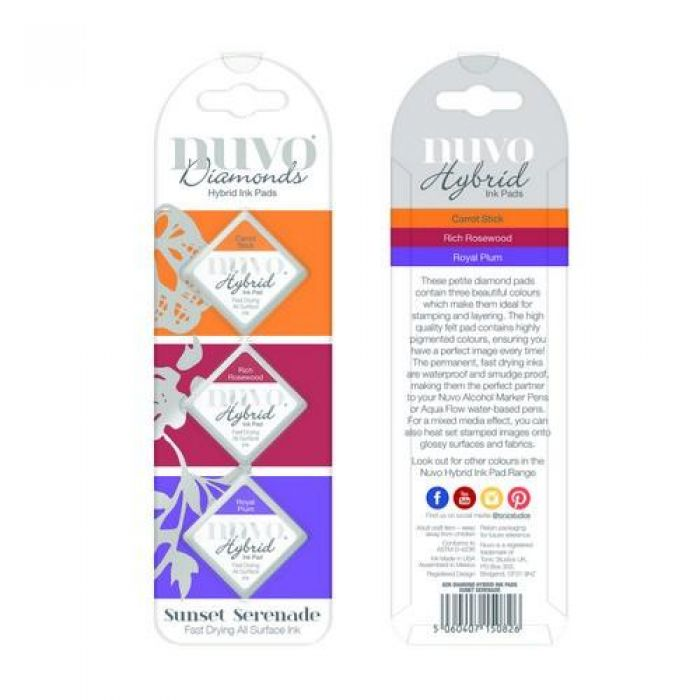 Nuvo Diamond hybrid ink pads - sunset serenade 82N