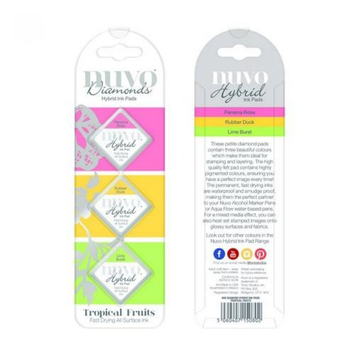 Nuvo Diamond hybrid ink pads - tropical fruits 80N