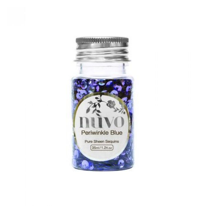 Nuvo Sequins - periwinkle blue 35ml bottle 1141N