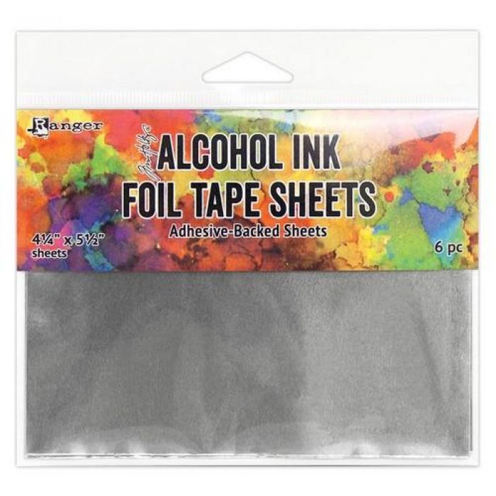 Ranger Alcohol Ink Foil Tape Sheets 4.25 x 5.5 6 vel TAC58533 Tim Holtz