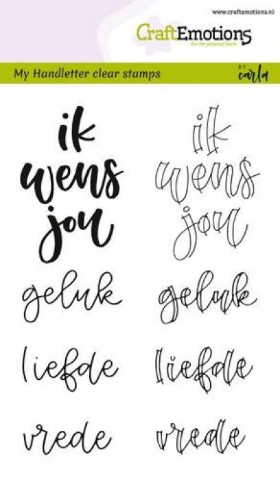 CraftEmotions clearstamps A6 - handletter - ik wens jou geluk
