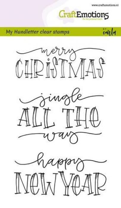 CraftEmotions clearstamps A6 - handletter - Jingle all the (Eng) CK