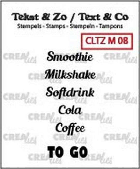 Crealies Clearstamp Tekst & Zo to go (ENG) CLTZM08