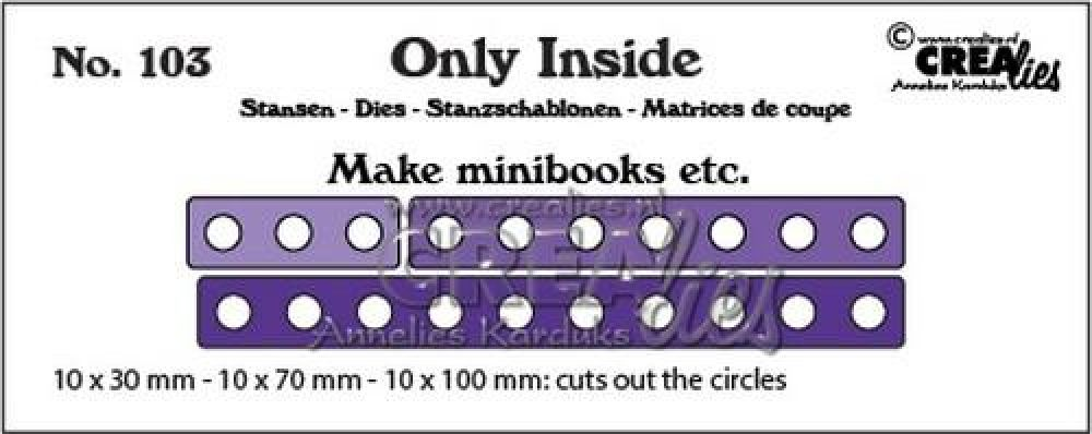 Crealies Only Inside no. 103 mini book holes CLOI103 10x30 - 10x100mm