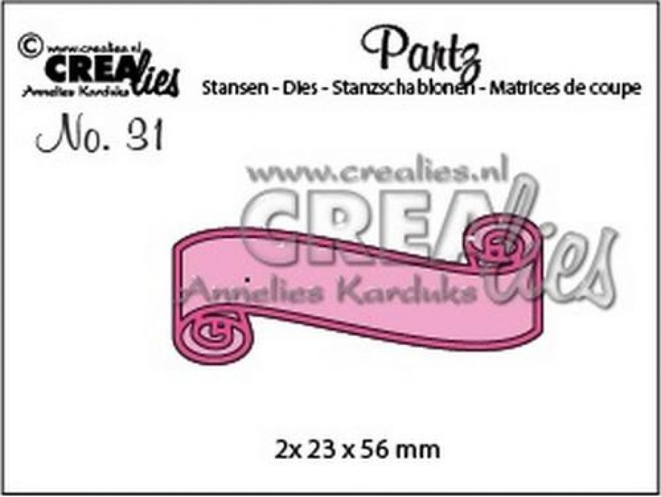 Crealies Partz no. 31 banner A CLPartz31 2x 23x56mm