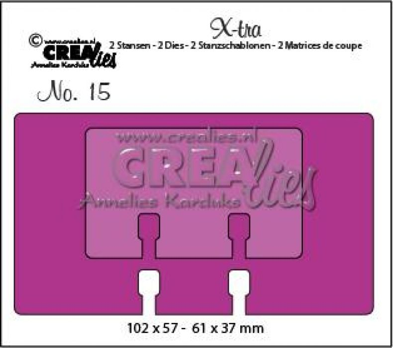 Crealies X-tra no. 15 memorydex + memorydex mini CLXTRA15 102 x 57 mm - 61 x 37 mm
