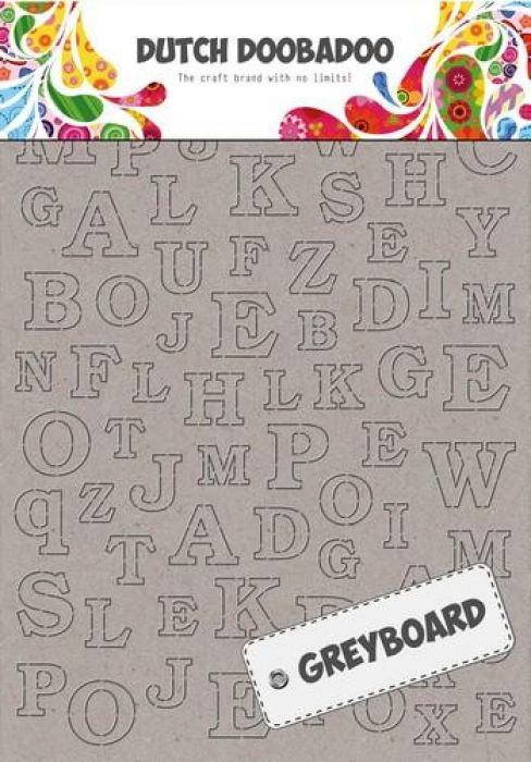 Dutch Doobadoo Dutch Greyboard alfabet A6 492.500.005 A4