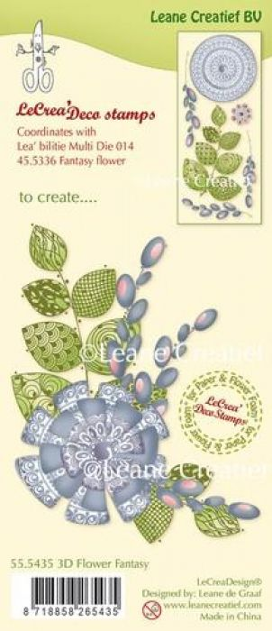 LeCrea - Clear stamp 3D Fantasy Flower 55.5435