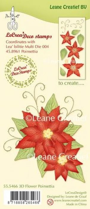 LeCrea - Clear stamp 3D Flower Poinsettia 55.5466