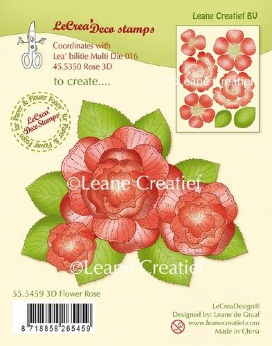 LeCrea - Clear stamp 3D Flower Rose 55.5459