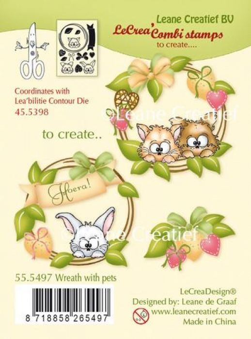 LeCrea - combi Clear stamp Wreath with pets 55.5497