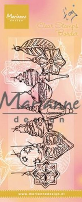 Marianne D Clear Stamps Tiny`s border - Kerstballen TC0868 138x39 mm