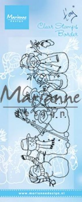 Marianne D Clear Stamps Tiny`s border - sneeuwpoppen TC0869 136x52 mm