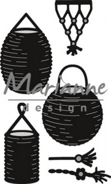 Marianne D Craftable Lampion set CR1443 49x80mm
