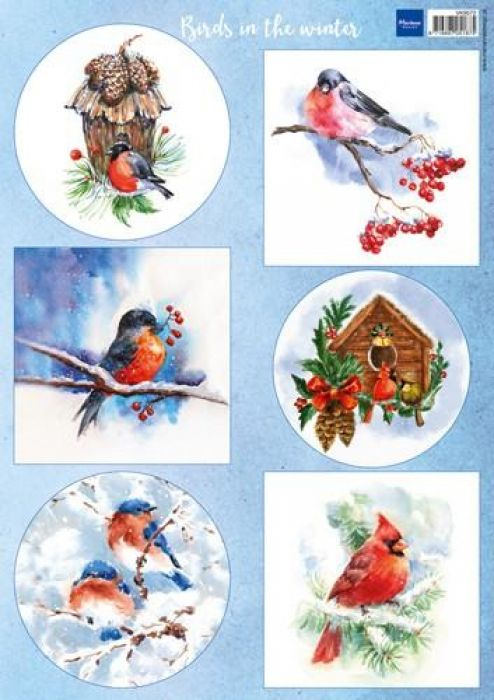 Marianne D Decoupage Birds in the snow VK9572 A4