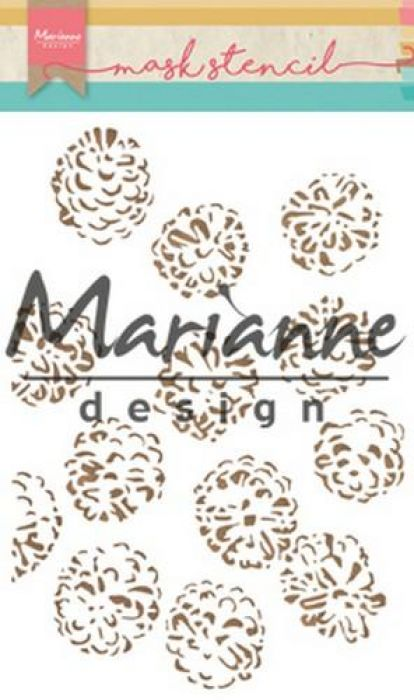 Marianne D Stencils Tiny`s dennenappels PS8010 15x21cm