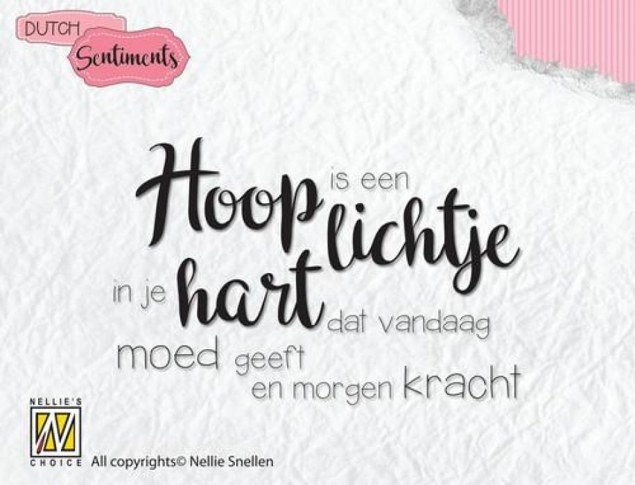 Nellies Choice Clearstempel Sentiments - Hoop is een lichtje (NL) SENC009