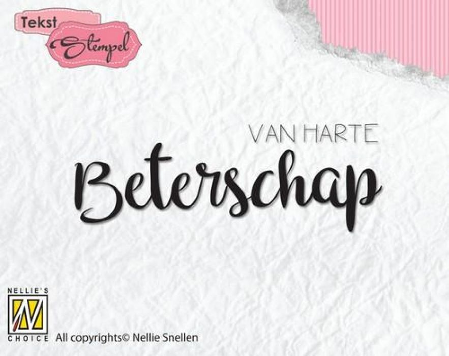 Nellies Choice Clearstempel Tekst (NL) - Van H. Beterschap DTCS020 65x23mm