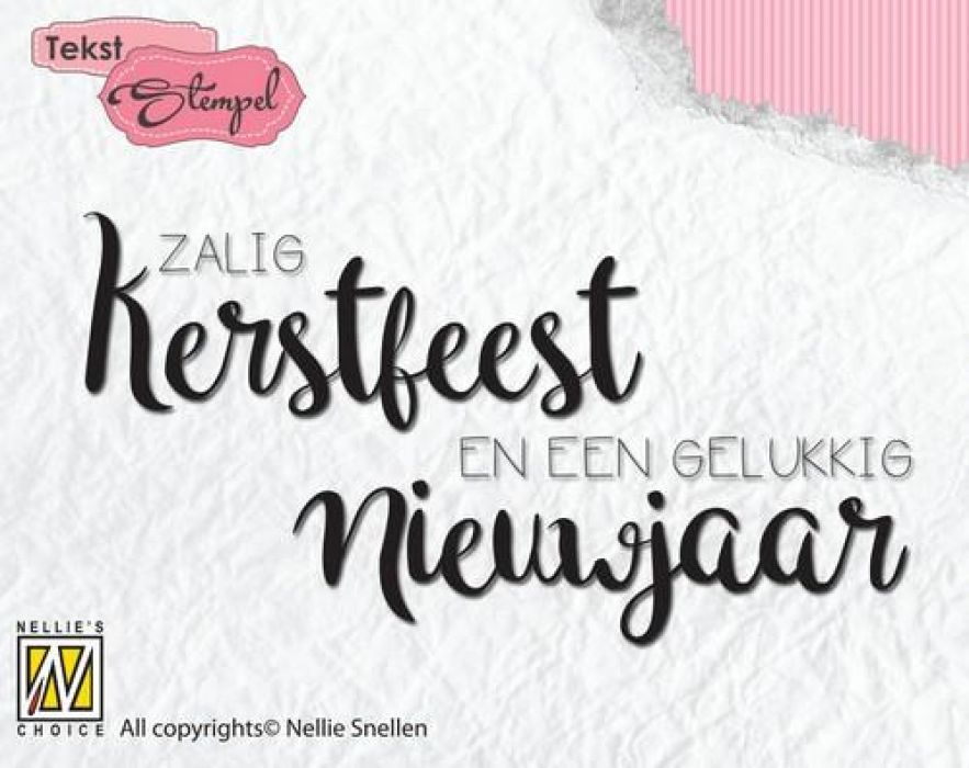 Nellies Choice Clearstempel Tekst (NL) - Zalig Kerstfeest DTCS022 81x42mm