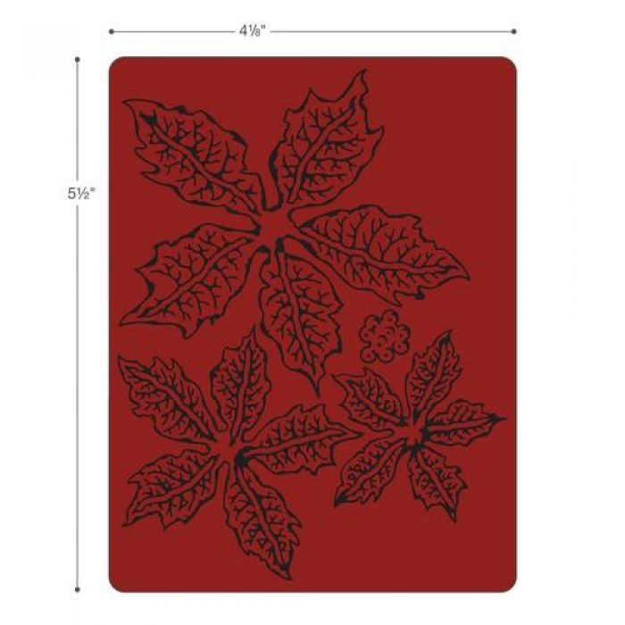 Sizzix Texture Fades Embossing Folder Tattered Poinsettia 662198 Tim Holtz