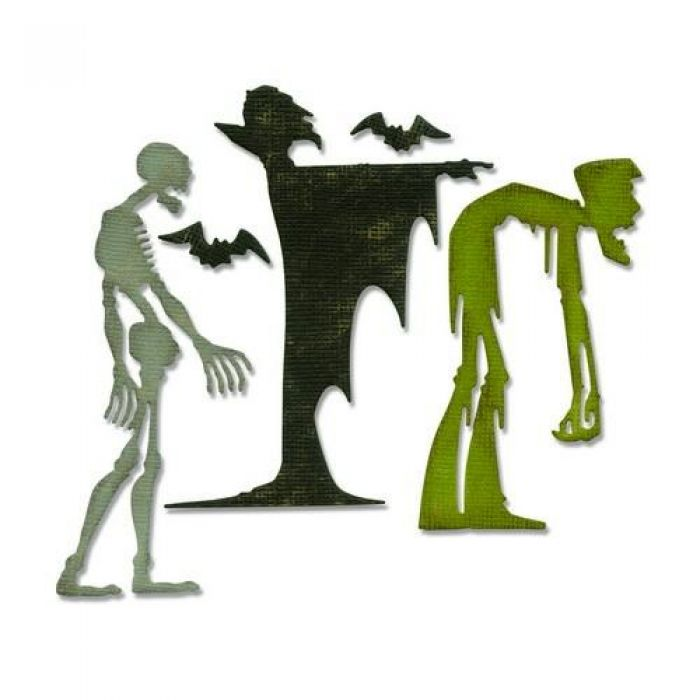 Sizzix Thinlits Die set - Ghoulish 4PK 663091 Tim Holtz