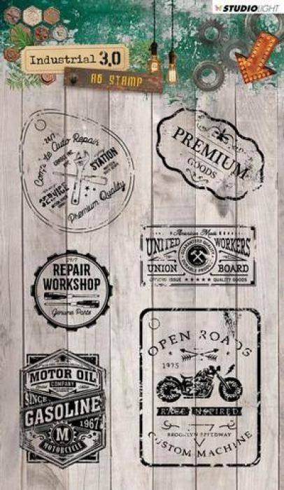 Studio Light Clearstempel A6 Industrial 3.0 nr 318 STAMPIN318