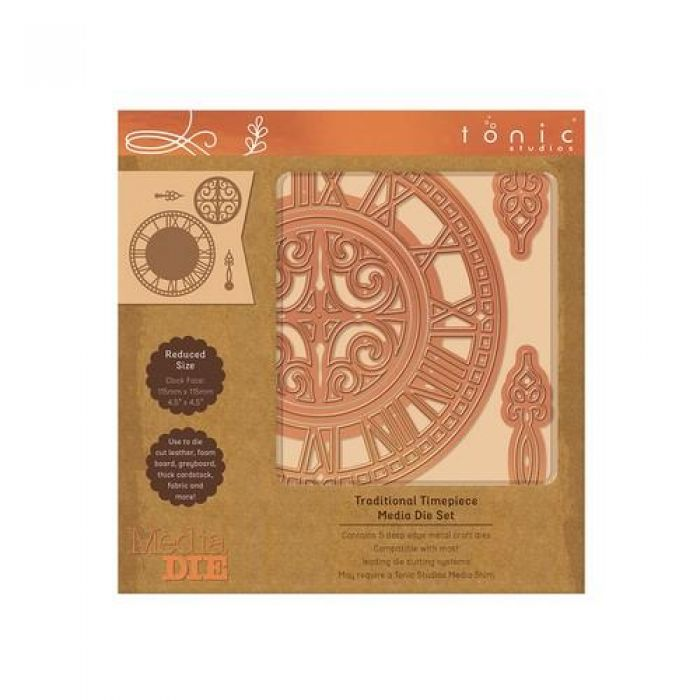 Tonic Studios Die - Media Die Set - Traditional Timepiece 2329E