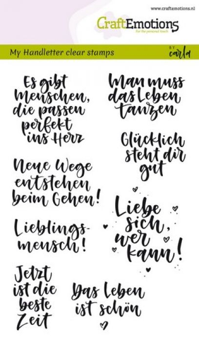 clearstamps A6 - handletter - Quotes (DE) Carla Kamphuis