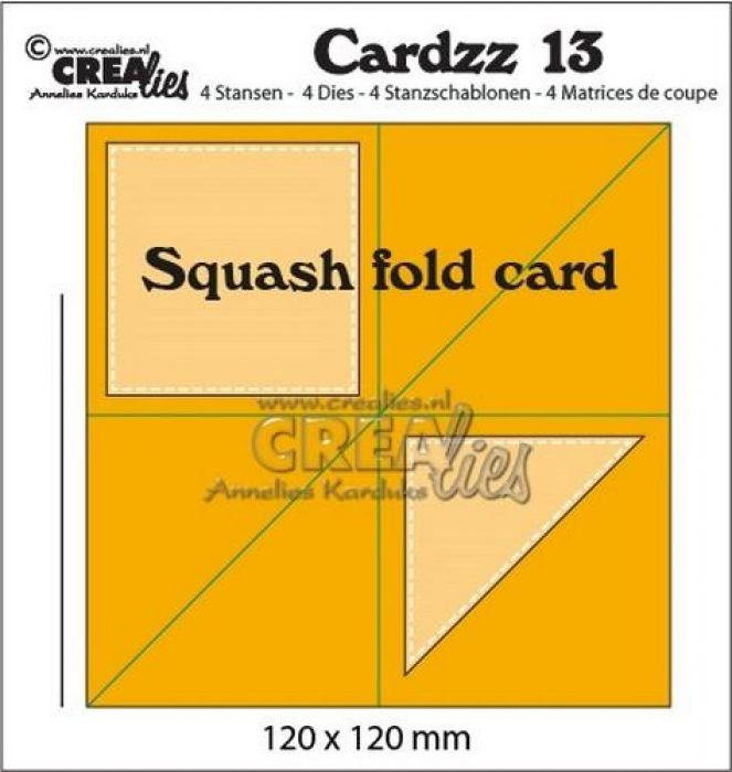 Crealies Cardzz no 13 squash fold card CLCZ13 120x120mm