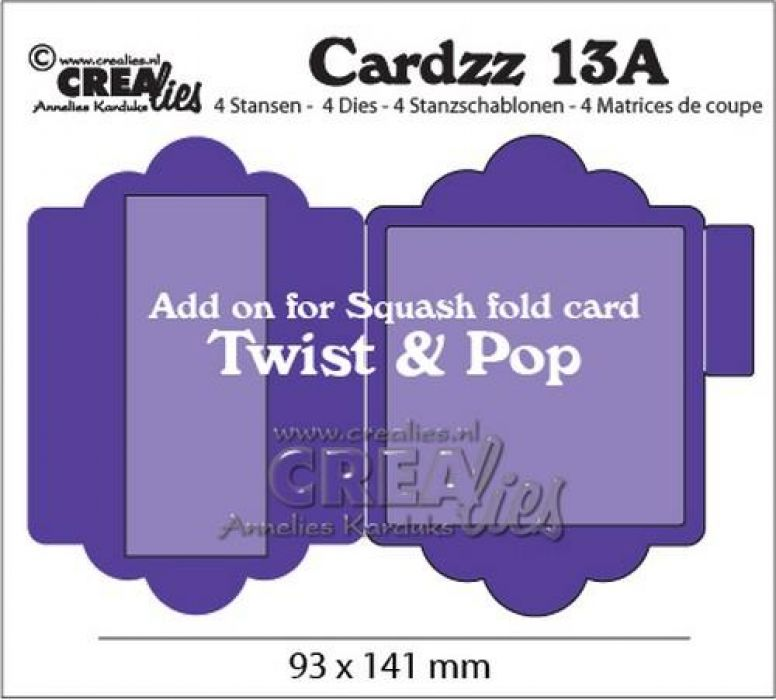 Crealies Cardzz nr 13A add on for CLCZ13: Twist & Pop CLCZ13A 93x141mm