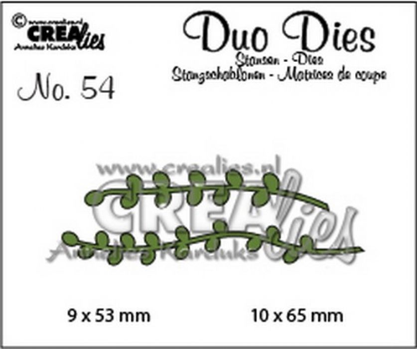 Crealies Duo Dies no. 54 Blaadjes 9 CLDD54 9x53 mm - 10x65 mm