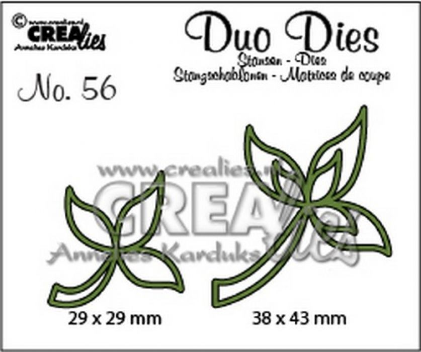 Crealies Duo Dies no. 56 Blaadjes 10 CLDD56 29x29 mm - 38x43 mm