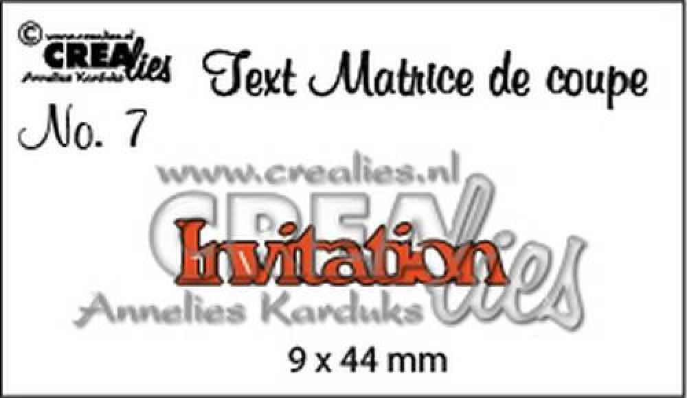 Crealies Tekststans (FR) nr 7 Invitation CLTM07 9x44mm