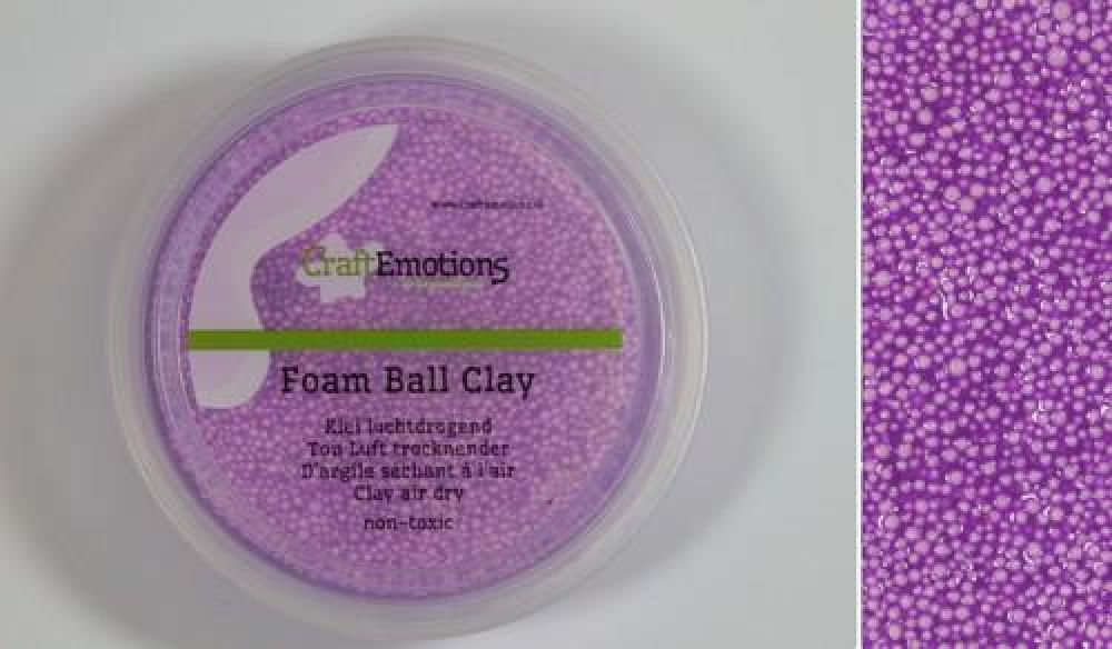 Foamball clay - paars 75ml - 23gr Air dry
