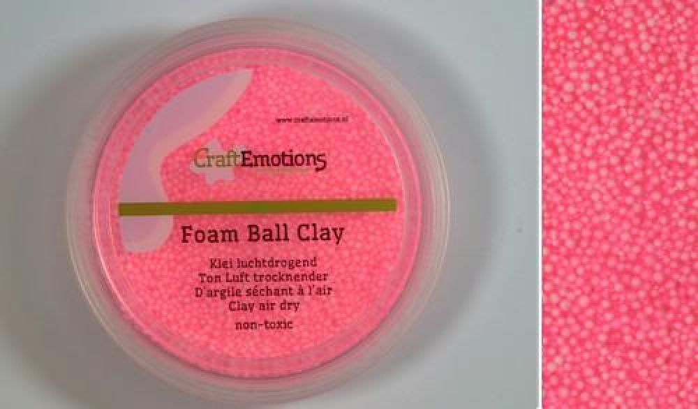 Foamball clay - roze 75ml - 23gr Air dry