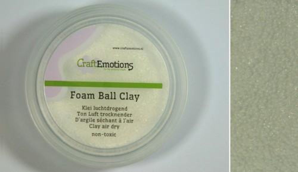 Foamball clay - wit 75ml - 23gr Air dry