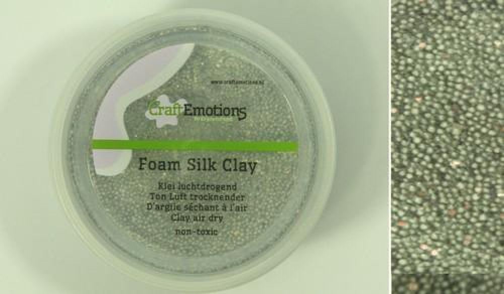 Foamball clay - zilver glitter 75ml - 23gr Air dry