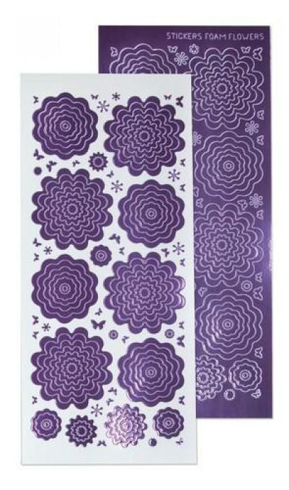 LeCrea - 10 Nested Flowers stickers 1. mirror violet 61.5800