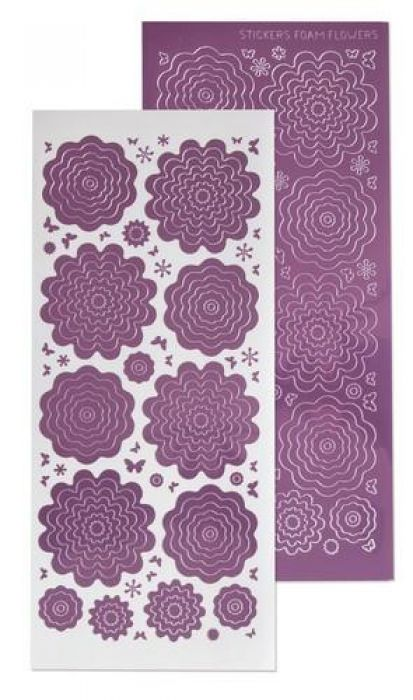 LeCrea - 10 Nested Flowers stickers 6. mirror candy 61.5855