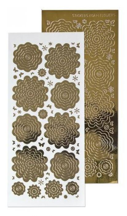 LeCrea - 10 Nested Flowers stickers 7. mirror goud 61.5862