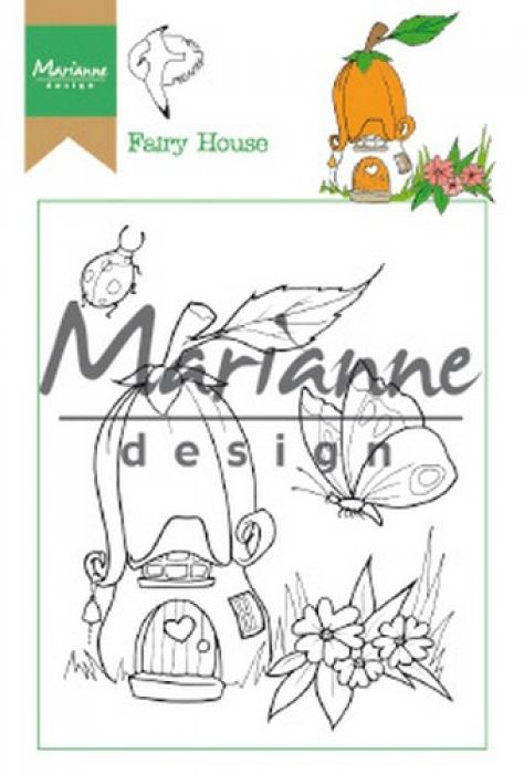 Marianne D Clear Stamp Hetty`s Fairy house HT1641 15,5 x 10,5 cm