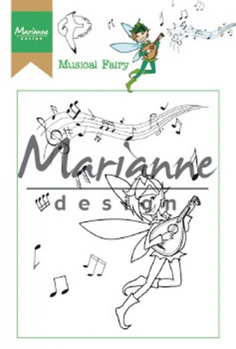 Marianne D Clear Stamp Hetty`s Musical Fairy HT1643 15,5 x 10,5 cm