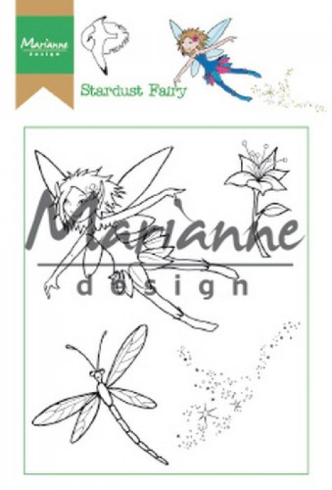 Marianne D Clear Stamp Hetty`s Stardust Fairy HT1644 15,5 x 10,5 cm