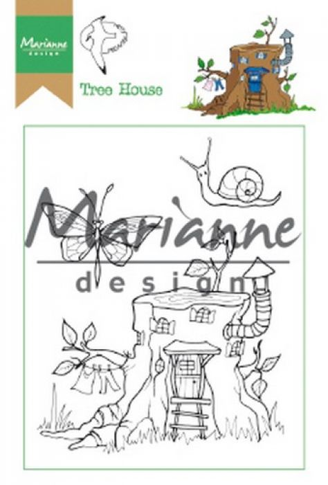 Marianne D Clear Stamp Hetty`s Tree house HT1642 15,5 x 10,5 cm