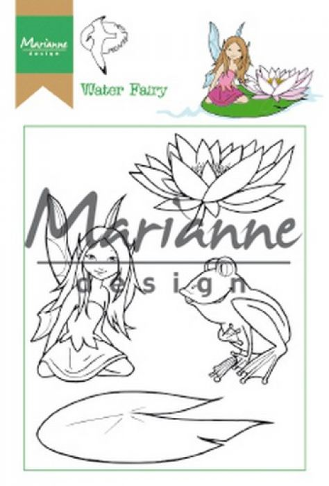 Marianne D Clear Stamp Hetty`s Water Fairy HT1646 15,5 x 10,5 cm