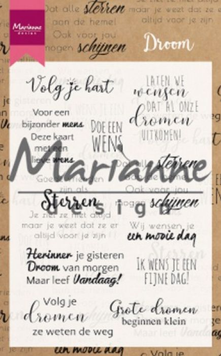 Marianne D Clear Stamps Droom teksten NL CS1019 194x140mm (